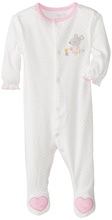 Rene Rofe Pretty Mouse Long Sleeve Footed Coverall