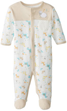Rene Rofe On The Farm Long Sleeve Footed Coverall