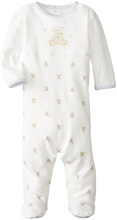 Rene Rofe Teddy Bear Long Sleeve Footed Coverall