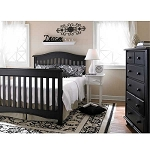 Bonavita Hudson Full Size Bed Rails in Licorice