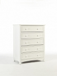 Bonavita Peyton 5 Drawer Chest in Classic White