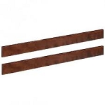 Bonavita Peyton Full Size Bed Rails in Chestnut
