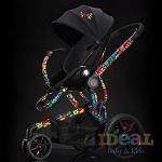 Quinny by Britto - Moodd Single Stroller - Chassis & Black Seat Pad