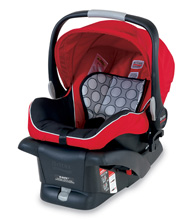 Britax B-Safe Infant Car Seat in Red (2013)