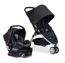 Britax B-Agile 3 B-Safe 35 Travel System, Black
