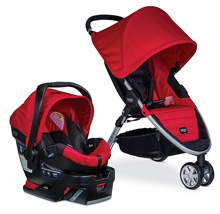 Britax B-Agile 3 B-Safe 35 Travel System, Red