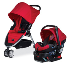Britax B-Agile 3/B-Safe 35 Travel System Red