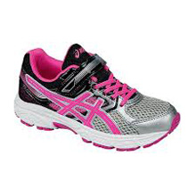 Asics 60% Off Running Kids Pre Contend Silver-Pink-Black