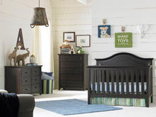 Ti Amo Catania Crib, Double Dresser & 5 Drawer Chest, Espresso