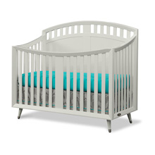 Child Craft Legacy Lincoln Park Arch Top 4 in 1 Crib Convertible in Matte White