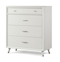 Child Craft Legacy Lincoln Park 4 Drawer Dresser in Matte White