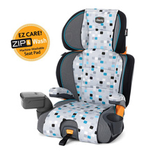 Chicco KidFit Zip 2 in 1 Belt Positioning Booster Car Seat, Blu