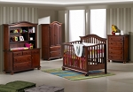Sorelle Vista Convertible Crib with Mini Rail in Mocacchino