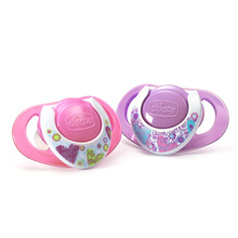 Chicco NaturalFit® Deco 12m+ Orthodontic Pacifiers - Pink 2 Pack