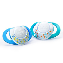 Chicco NaturalFit® Deco 4m+ Orthodontic Pacifiers - Blue 2 Pack