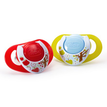 Chicco NaturalFit® Deco 12m+ Orthodontic Pacifiers - Neutral 2 Pack