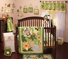 NoJo Jungle Babies 8 Piece Crib Bedding Set