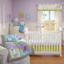NoJo Dreamland 4 Piece Crib Bedding Set