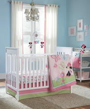 Disney Minnie Butterfly Charm 4 Piece Crib Bedding Set