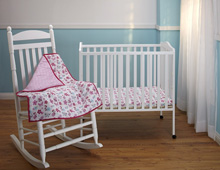 Disney Minnie's Garden 3 Piece Portable Crib Set