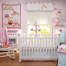 Nojo Love Birds 4 PC Crib Set