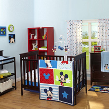 Disney Mickey Mouse 3 Piece Crib Set