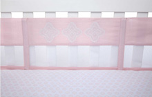 NoJo® Chantilly Secure-Me Mesh Crib Liner