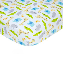 Crown Craft Carter's Safari Sateen Crib Sheet