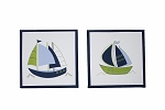 Crown Craft Zachary 2pc Wall Decor By Nautica Kids