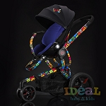 Quinny by Britto Moodd Stroller Pad Insert - Blue