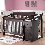 Sorelle Tuscany 4 in 1 Crib N Changer in Espresso