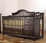 Sorelle Cape Cod Crib N Changer in Espresso