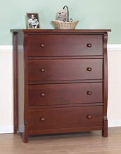 Sorelle Tuscany/Princeton 4 Drawer Chest in Cherry