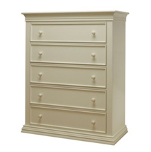 Sorelle Verona 5 Drawer Dresser in French White