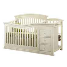 Sorelle Verona Crib & Changer in French White