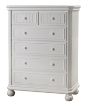 Sorelle Finley 6 Drawer Dresser in White