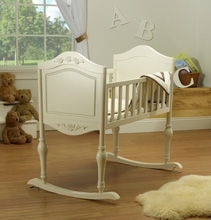 Sorelle Furniture Lisa Cradle, French White