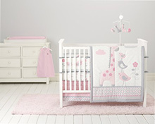 Cuddle Time Sky High Bedding Crib Set 6-Pieces Pink