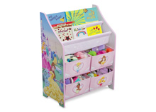 Delta Children Disney Princess Book and Toy Organizer