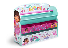 Delta Children Dora The Explorer Deluxe Book and Toy Organizer