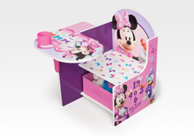 Delta Disney Minnie Chair Desk with Storage Bin