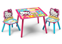 Delta Children Hello Kitty Table and Chair Set