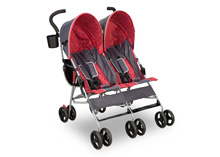 Delta Children LX Side by Side Stroller, Grey & Red