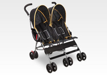 Delta LX Side x Side Stroller, Black & Orange