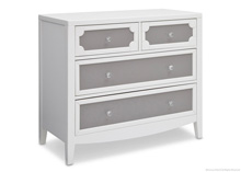 Delta Children Simmons Hollywood 4 Door Dresser Grey