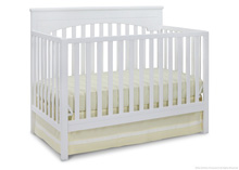 Delta Children Layla 4 in 1 Crib, White