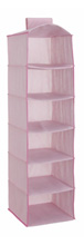 Delta 6 Shelf Storage with 2 Drawers Barely Pink