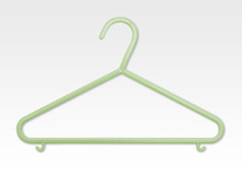 Delta 10 Pack Basic Hanger, Hush Green