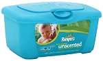 Pampers Wipes Unscented with Aloe 72 Count