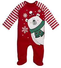 Ganz Christmas Holiday Polar Bear Romper 3-9 Months